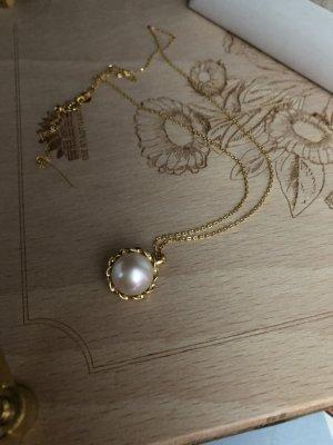 925er Silber Pendente bianco-oro