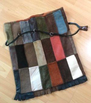 Echte Vintage Patchwork Wildleder Tasche