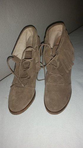 Echte  Booties Ankle Boots mit Fransen