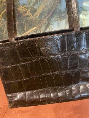 Echteder Joop Tasche antik Leder vintage Kroko