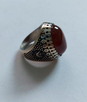 Echter Achat Ring aus Brass ( Ringgröße 19)