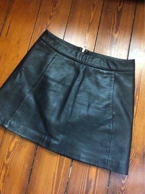 Ganni Jupe en cuir noir cuir