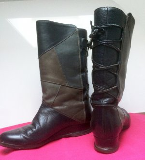 Fur Boots black-brown leather