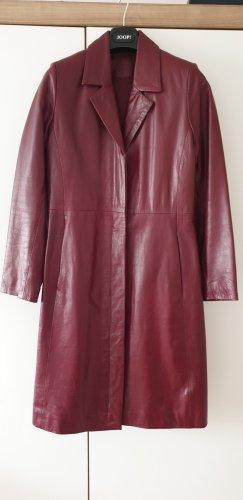 Leather Coat bordeaux