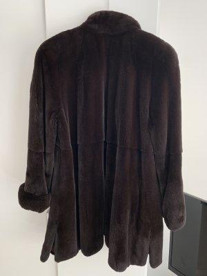 Echter natürlicher Pelz vom Nerz Mantel Gr. L/XL