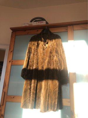 Manteau de fourrure cognac fourrure
