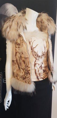 Echter Pelz Luxus winter outfit postcard Luxus echter pelz gilet und bustier
