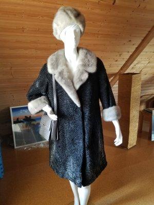 Echter Persianer Mantel mit Mütze