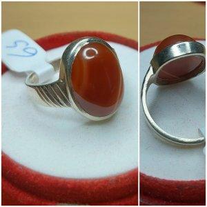 Echter Silberring mit Achat (Handgefertigter Ring)