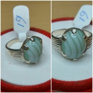 Echter Silberring mit Achat ( Handgefertigter Schmuck)