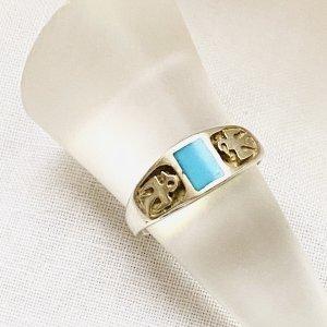 Echter Türkis in 925er Silber Ring
