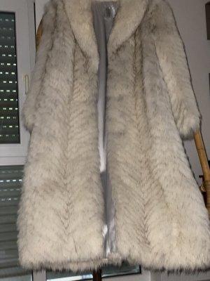 Bid Handmade Futrzany płaszcz Wielokolorowy