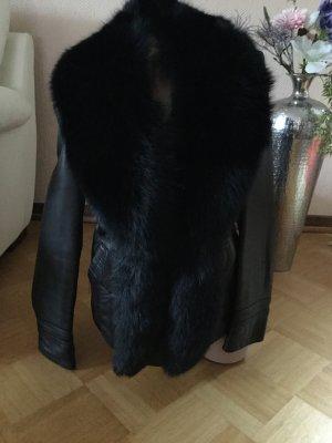 Echtes Leder Jacke mit Petz