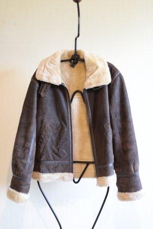 Echtes Leder Mantel