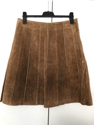 Vero Moda Jupe en cuir marron clair