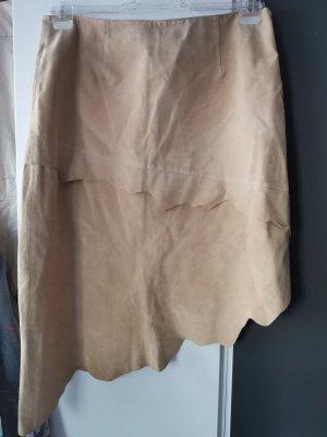 7th Avenue Suiting Collection Falda de cuero beige