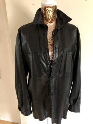 Leather Shirt black