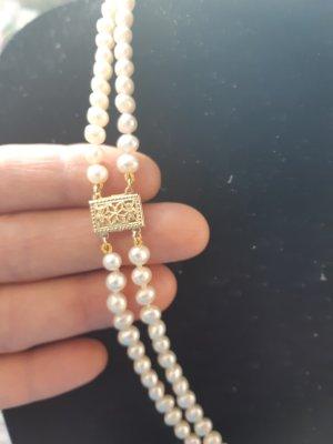 Echtes perlenkette mit Gold Verschluss