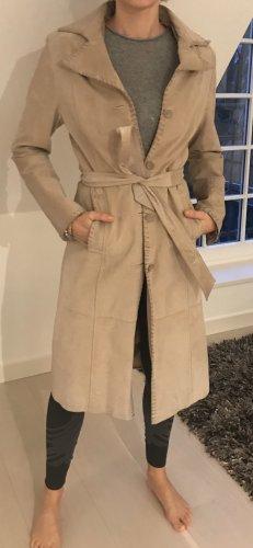 WE Leather Coat cream leather