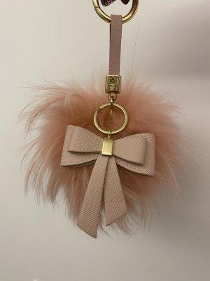 Echtfell Bommel rosa für Tasche oder Schlüsselanhänger