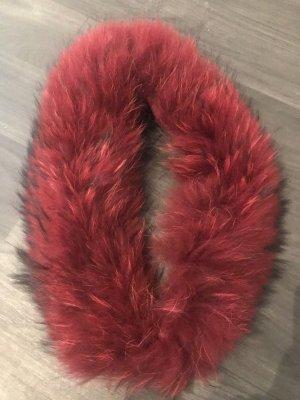 Écharpe ronde rouge foncé