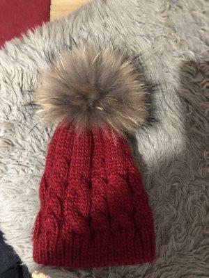Fur Hat brown-red