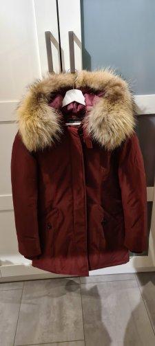 Just Fashion Giacca in pelliccia marrone chiaro-bordeaux