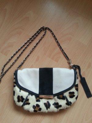 Echtfell Tasche mit Leoparden Muster Leder