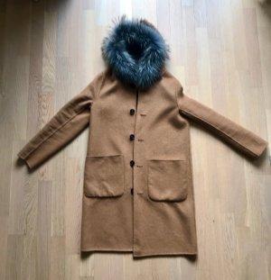 Blonde No. 8 Cappotto con cappuccio marrone-color cammello