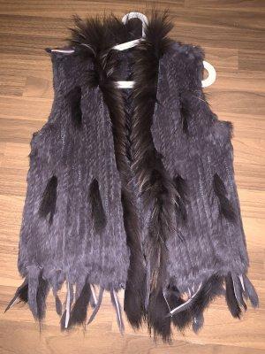 Fur vest light brown