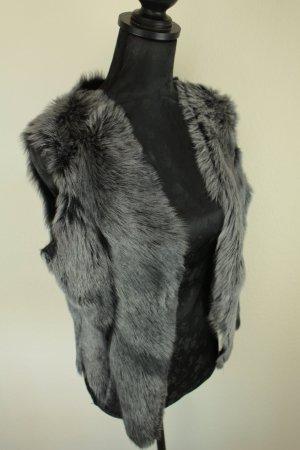 Fur vest dark grey-black pelt