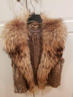 Hallhuber Donna Fur vest camel