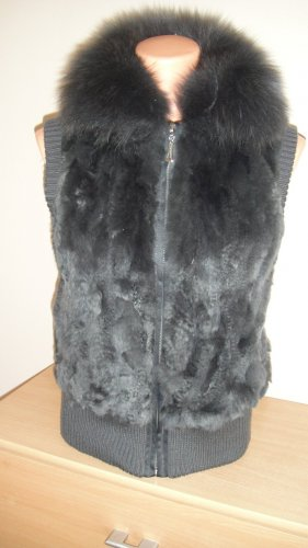 Fellini Chaleco de piel multicolor lana de angora