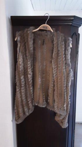 Soyaconcept Fur vest grey-grey brown