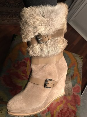 Fur Boots light brown-beige