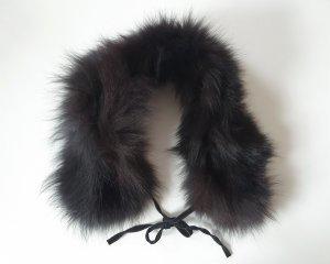 Écharpe ronde noir fourrure
