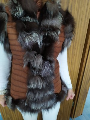 Bonnie Fur vest multicolored