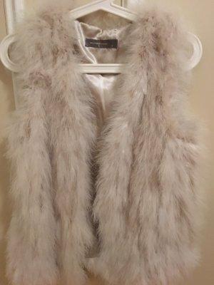 Hallhuber Futrzana kamizelka kremowy-jasnobeżowy
