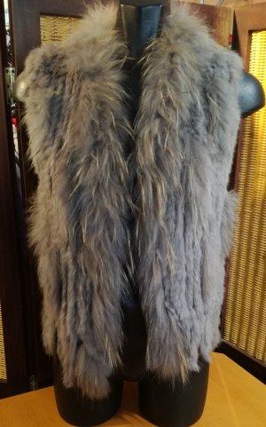 Oakwood Chaleco de piel color plata-gris Algodón