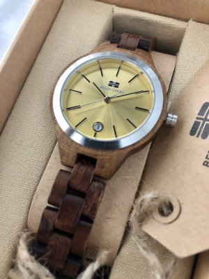 Analog Watch gold-colored-dark brown