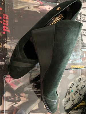 ae elegance Wedge Pumps forest green-dark green