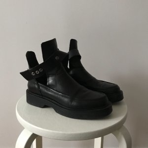 Zara Cut Out Booties black-silver-colored