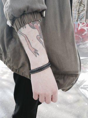 Boutique Ware Lederen armband zwart