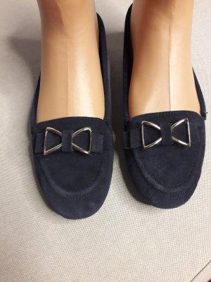Echtleder Ballerina Schuhe Sneaker Größe 41 / 42breite Füße Weite blau