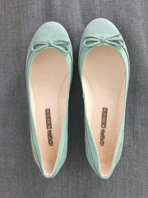 Buffalo Ballerinas with Toecap turquoise-mint leather