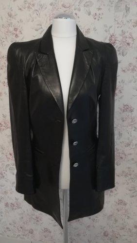 Leather Blazer black