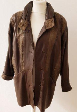 Manteau en cuir bronze