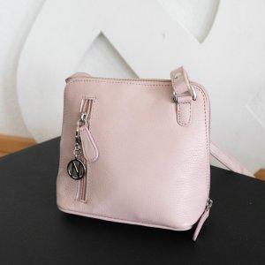 Echtleder Cross-Body Bag in Rosa