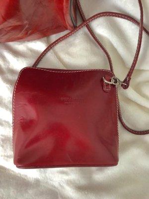 Echtleder Damen Tasche Leckleder rot crossbody