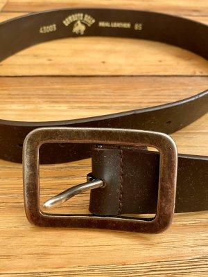 Cowboysbelt Ceinture en cuir brun foncé